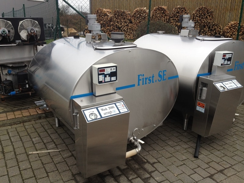 Used Serap Milk Tank / Wine Tank with RL 10 Tank Cleaning