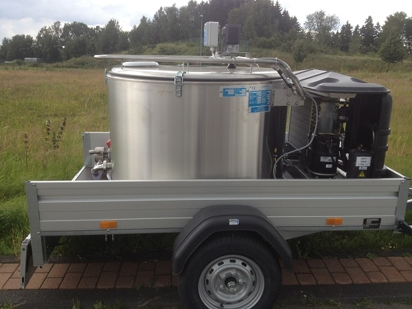 Mobile Milk Vat with Trailer