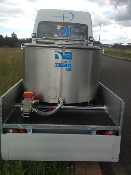 Serap Mobile Milk Cooking Vat & Hapert Trailer