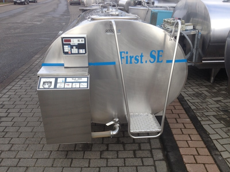 Serap Milk Used Tanks with RL10 Cleaning System