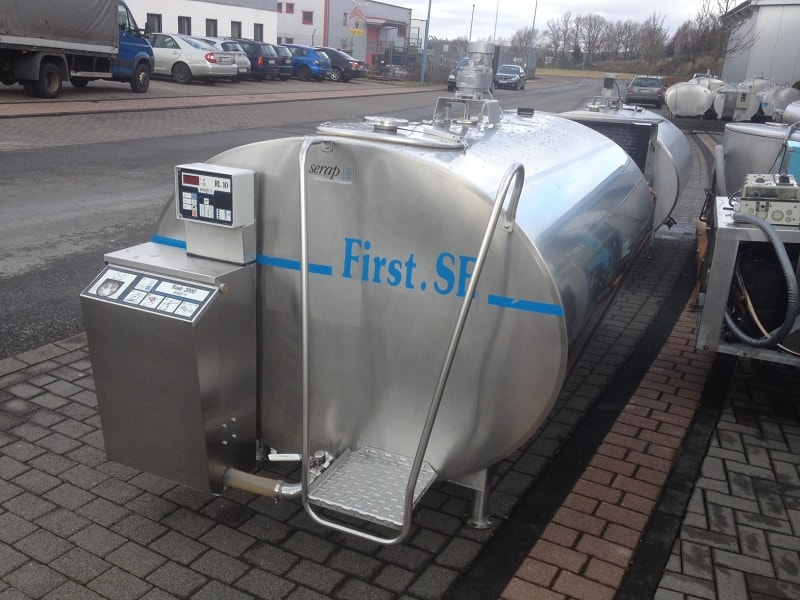 Used Serap Milk Bulk Tanks with The RL3 Cleaning System