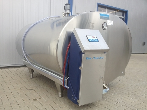 Completely Assembled Milk Tank Cleaning System