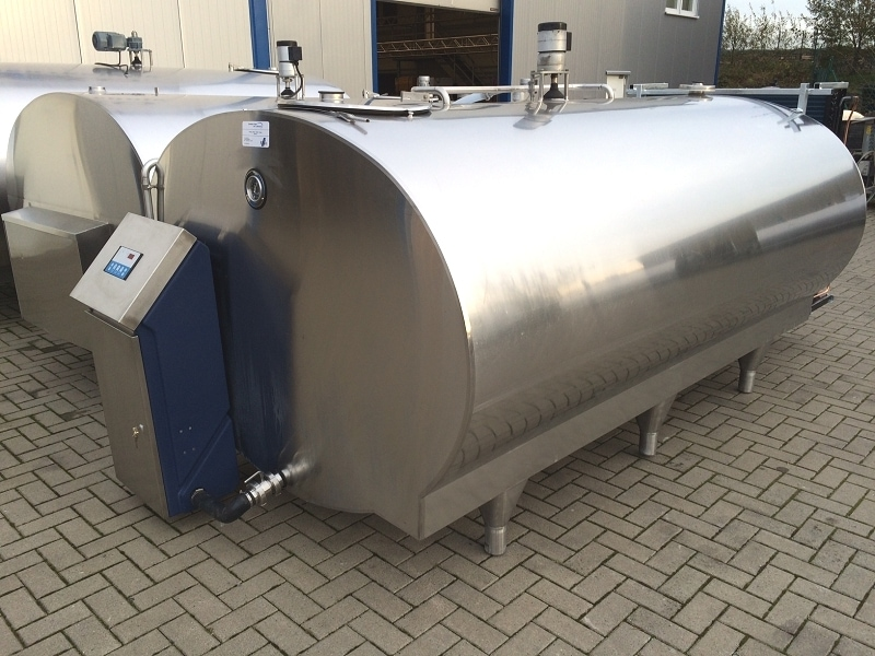 Used Mueller Milk Cooling Tank With New Cleaning System And Cooling Unit