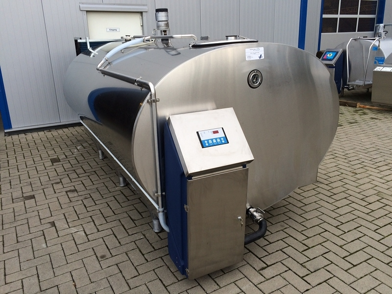 Used Mueller Milk Cooling Tank With New Cleaning System And New Cooling Unit