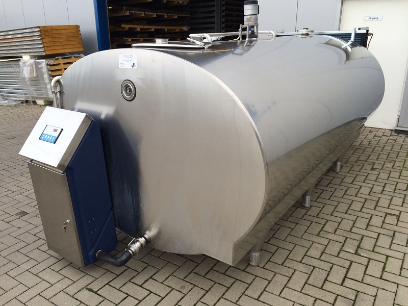 Used Mueller Milk Tank with New Cleaning System