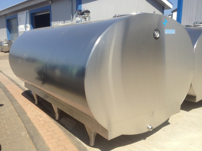 Used Mueller Milk Tanks without Cleaning System O-2000 8000 Litre