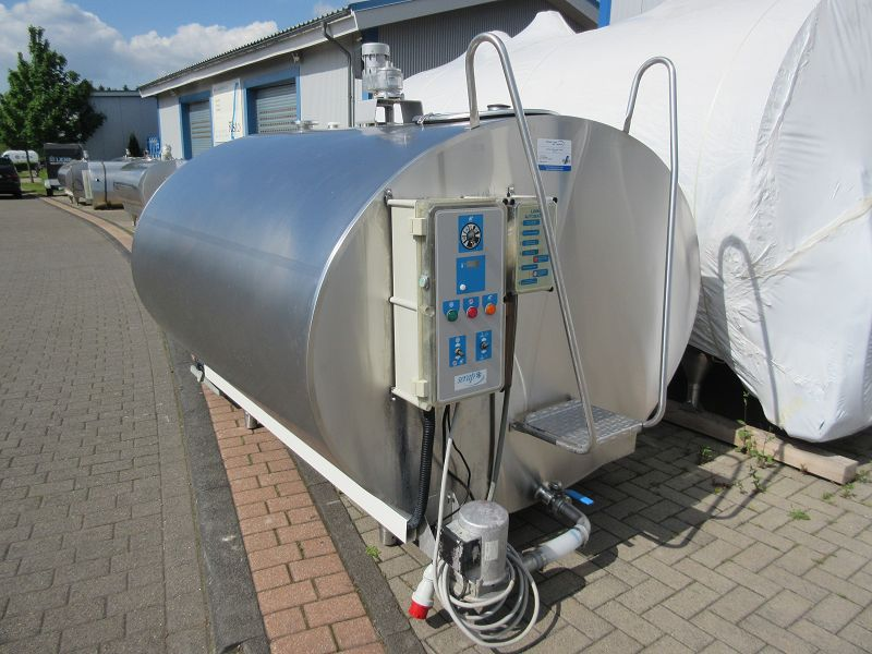 Oval Stainless Steel Used Serap Milk Tanks with RL3 Cleaning System