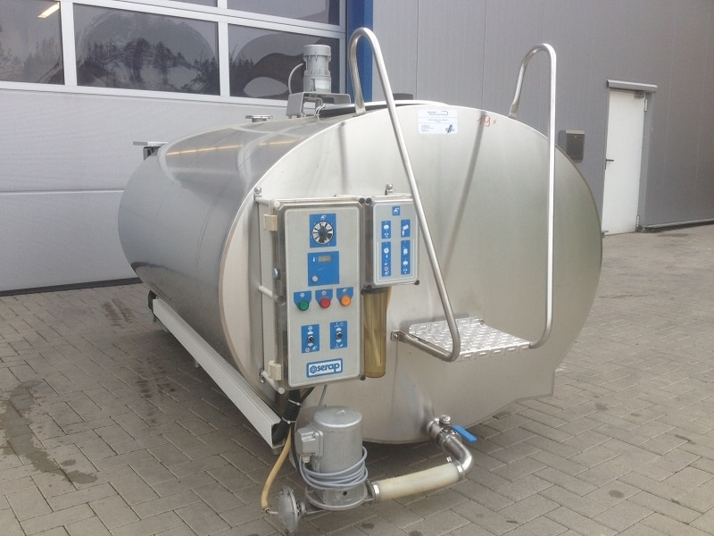 Used Serap Milk Tanks with RL3 Cleaning System