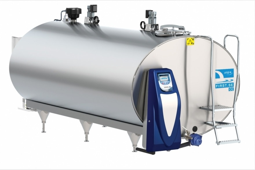 new Serap milk cooling tank with rainbow cleaning system