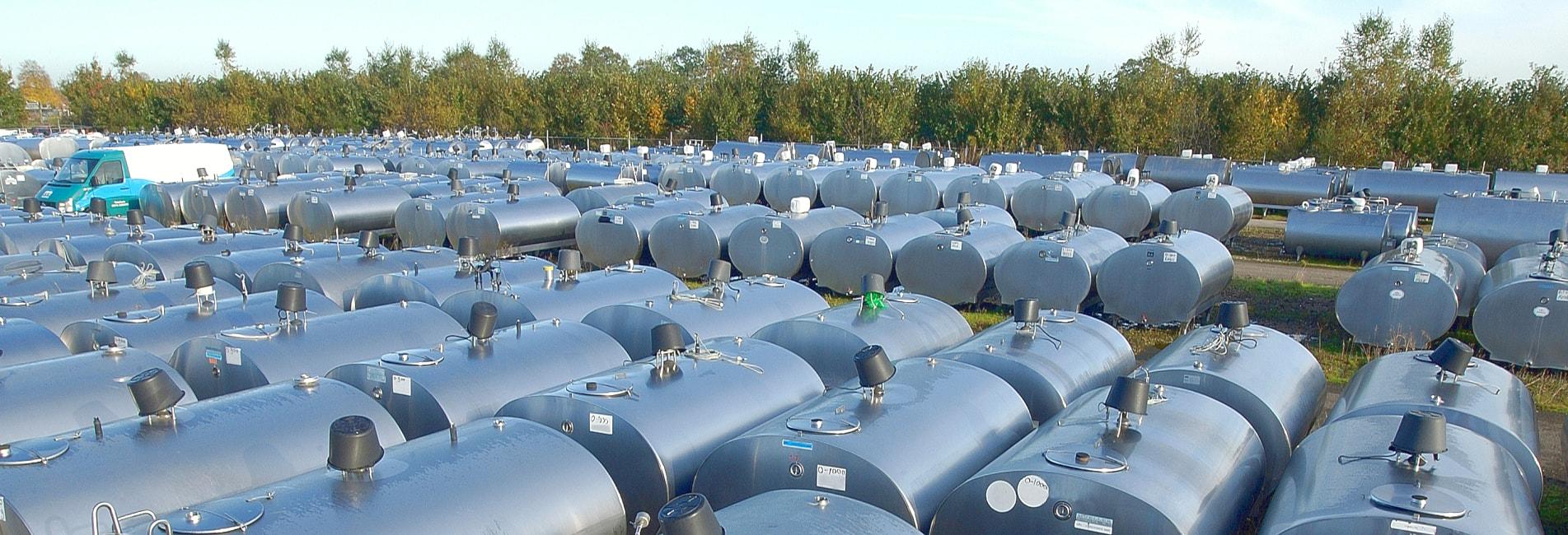 Gebrauchte Milchtanks Milchkühltanks Lager Risto