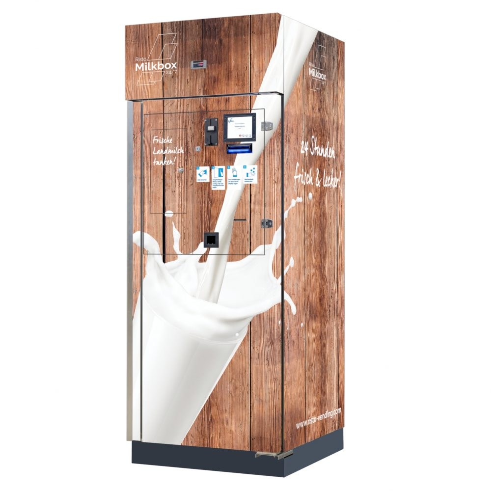 milchautomat milkbox 180 milk vending machine braun