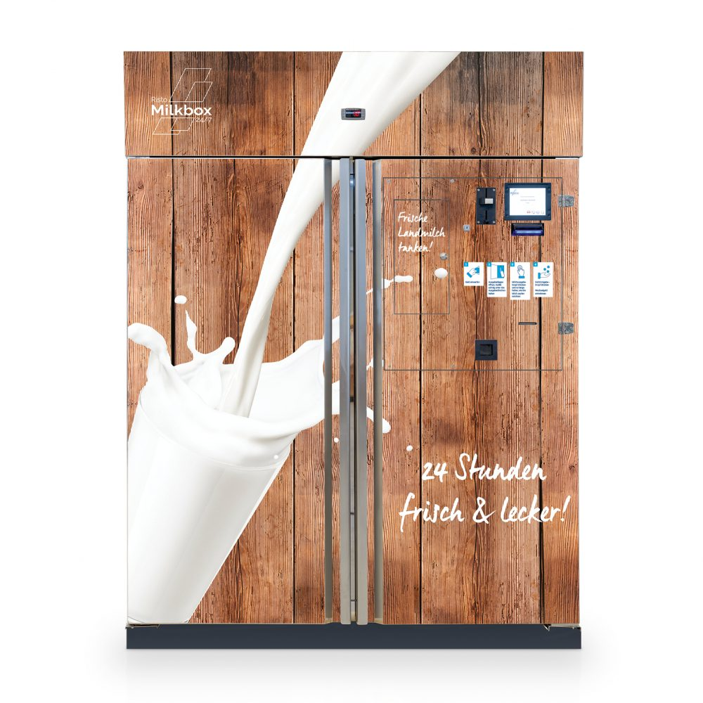 milchautomat milkbox 360 milk vending machine braun