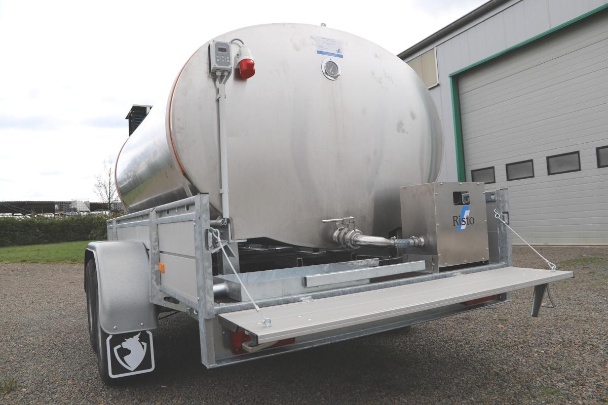 Mobile Milk Bulk Tank with Vat Trailer